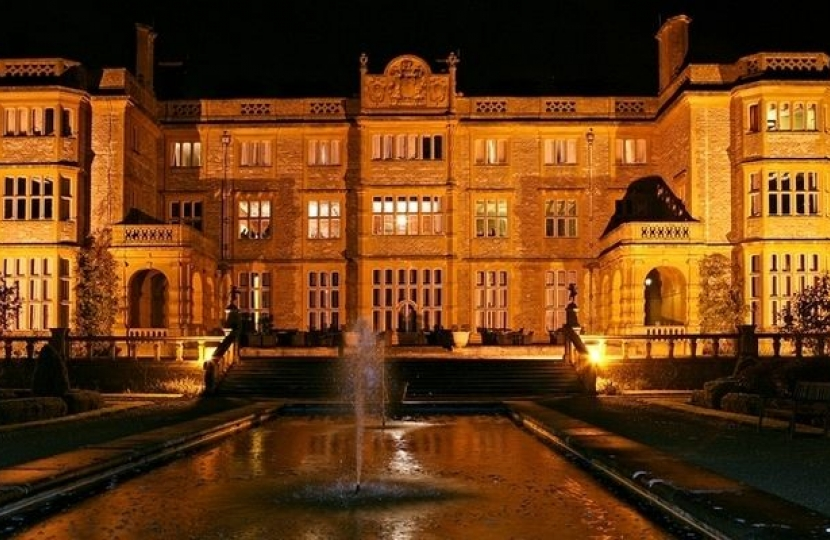 Eynsham Hall in the dark
